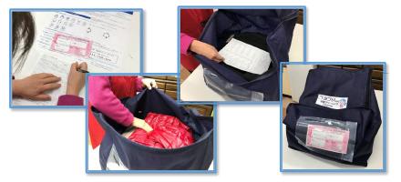 発送用袋へ梱包